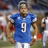 Detroit Lions quarterback Matthew Stafford stands on the field before the start of their NFL season home opener football game against the Kansas City Chiefs in Detroit, Michigan September 18, 2011. REUTERS/Rebecca Cook
