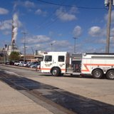 A fire truck at the scene of a fire at Procter & Gamble, 501 Eastman Ave. in Green Bay, September 22, 2014. (Photo from: FOX 11).