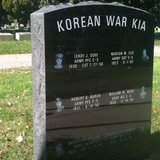 Korean War Killed in Action monument at Gathering of Flags in Oak Grove Cemetery, Coldwater MI (photo credit: Ken Delaney, Midwest Communications, Inc)