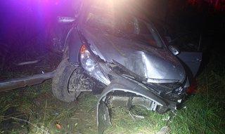 Damage to 2014 Honda Sonata. (Photo supplied by Van Buren County Sheriff's Department)