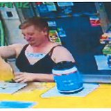Sexual assault suspect inside the BP Snappy Foodmart, Tekonsha Township, Michigan on September 18, 2014 (photo credit: Calhoun County Sheriff's Department)