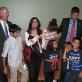 Congressman Trey Gowdy with the family of Congressman Sean Duffy - Photo: Larry Lee © 2014 Midwest Communications
