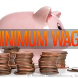 Minimum Wage Graphic (Photo Copyright Midwest Communications, Inc.).