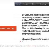 A screenshot of Butterfly Labs' website from September 24 2014 following a temporary shutdown of the company by the FTC