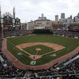 Comerica Park in Detroit, Michigan