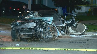 A single-vehicle crash in Appleton on Monday September 29, 2014. (Photo from: FOX 11).