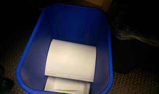Papers to be shredded (Photo Copyright Midwest Communications, Inc.).