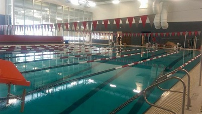 Coldwater city council gets tour of city 39 s new aquatic center public opening wtvb for Waterloo rec centre swimming pool