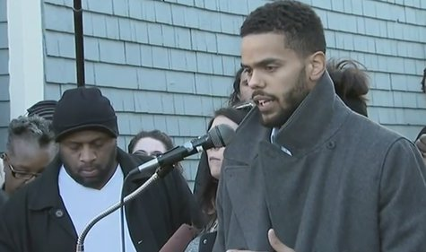 Family of 19-year-old Tony Robinson hold a press conference in Madison on Monday March 9, 2015. (Photo from: YouTube).