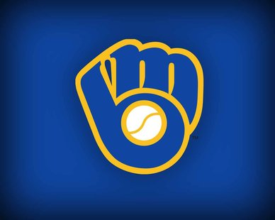 "Milwaukee Brewers ""ball in glove"" logo."