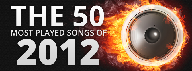 The 50 Most Played Songs of 2012