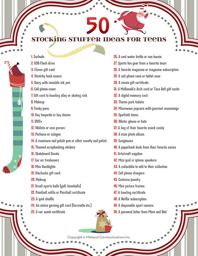 100 Fun Christmas Gift Ideas for Teens! {Clever Gifts ... |Christmas Service For Teens