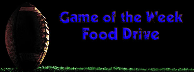 Game of the Week Food Drive