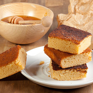 Slices of holiday honey cake
