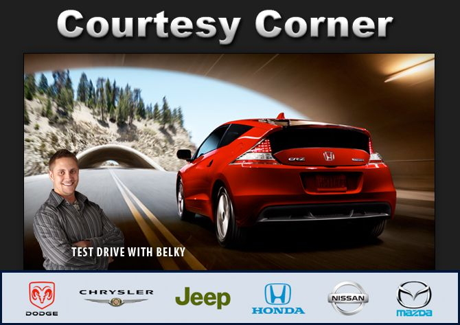 Belky's Courtesy Corner Test Drives