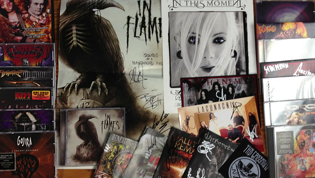 CDs, DVDs, and autographed metal memorabilia