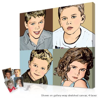 Parents Personalized Gifts - Custom pop art artwork from kids photos