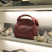 Purse on a shelf