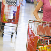 Women with shopping carts