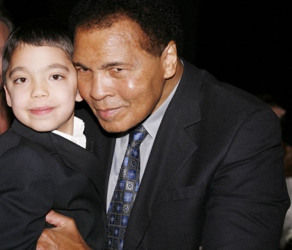 Ethan Bortnick with Muhammad Ali