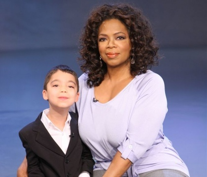 Ethan Bortnick with Oprah