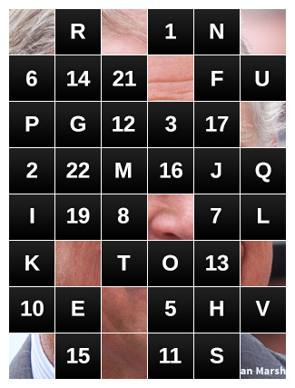 Famous Face Game Board