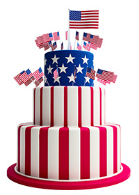 American Flag Celebration Cake