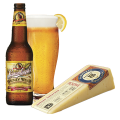 Leinie's Honey Weiss and SarVecchio Parmesan
