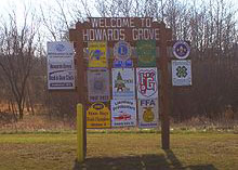 Howards Grove sign