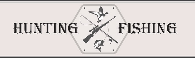 Hunting and Fishing Banner