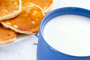 Pancakes and Milk