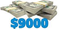 Raise $9,000