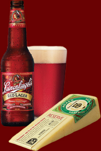 Leinies Red Lager and Asiago
