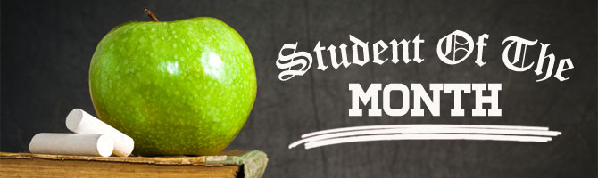 Student of the Month Banner