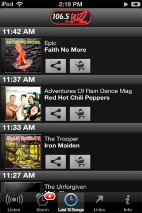 iPhone Playlist Screenshot