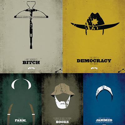 Walking Dead Minimalist Posters