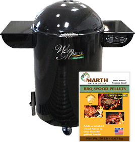 Wood Master Pellet Grill and Marth BBQ Pellets