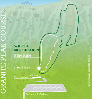 Map of Wrut'n Run Course