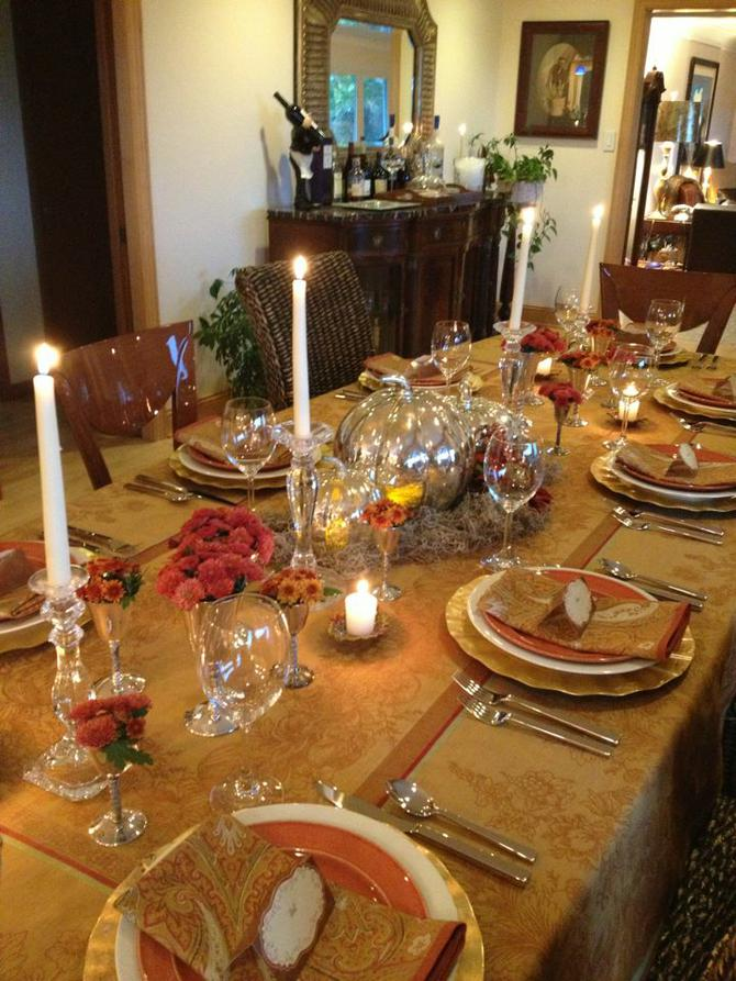 ... with a beautiful paisley cloth napkin. The place cards I found at Michaelu0027s Arts and Crafts and used rub off letters to put the guestu0027s name on them. & Inspiration For A Beautiful Thanksgiving Table Setting | Big Country ...