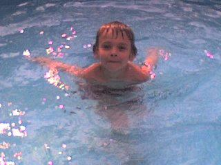 Alex in his swimming pool