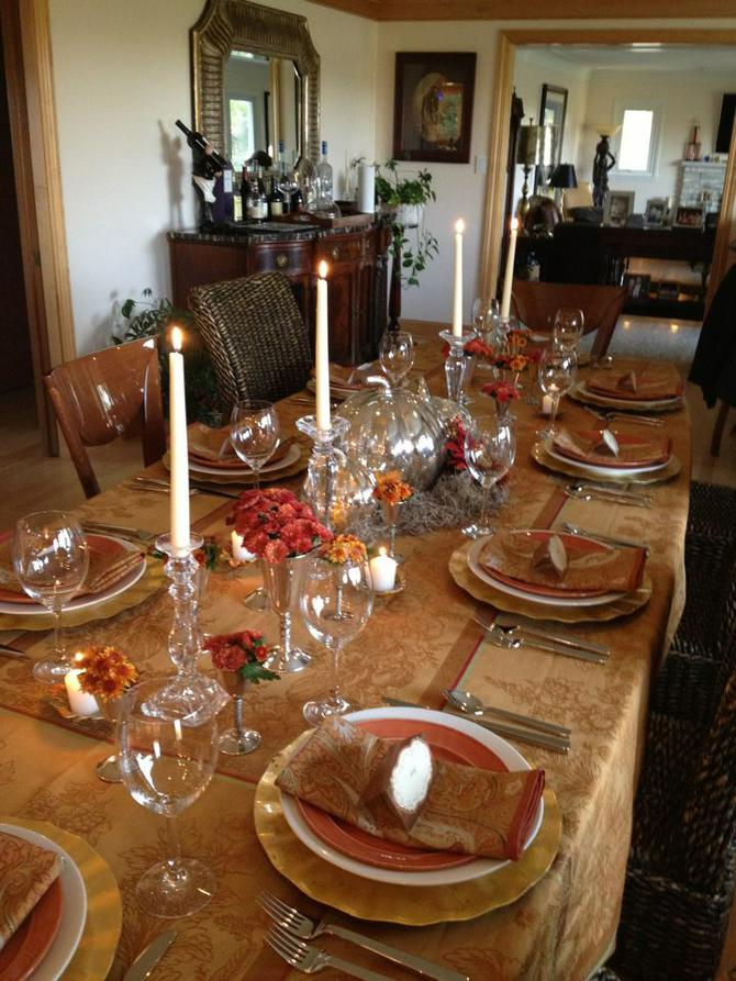 Inspiration For A Beautiful Thanksgiving Table Setting | Big Country ...
