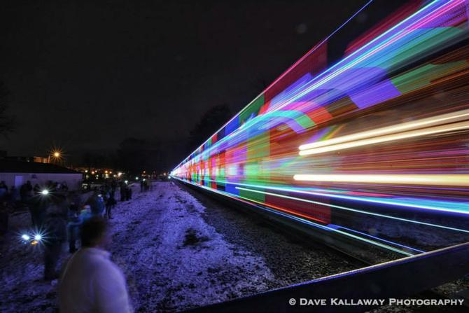 so i went with motion blur as it pulled out to head to the next town since theres christmas lights all over the trainmotion blur gives you that wall