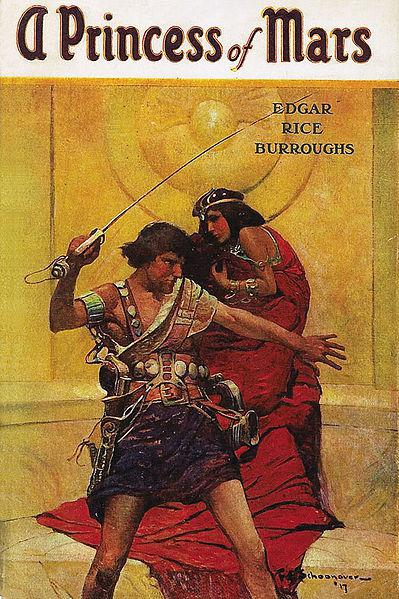 The original A Princess of Mars book cover