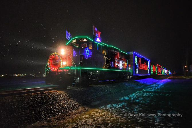 its just got a great karma about itthe canadian pacific holiday train each year it stops at several places throughout wisconsin and minnesotaits a