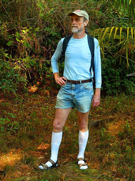 Image of man with socks and sandals