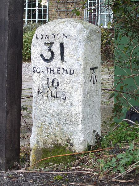 Milestone outside of London, England