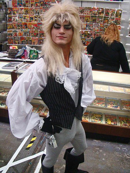 "Jareth the Goblin King from ""Labyrinth"", Big Apple Con, Saturday October 17, 2009. New York City."