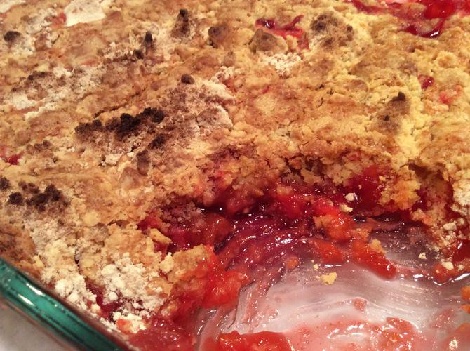 Rhubarb Dump Cake From Scratch