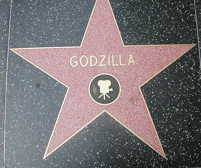 Godzilla's star on the Hollywood Walk of Fame, Los Angeles (California)