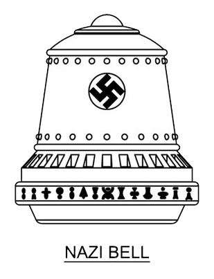 "This illustrates purported top secret Nazi scientific technological device knows as ""the Bell"" (Die Glocke). For illustration variety of sources and described features are combined."